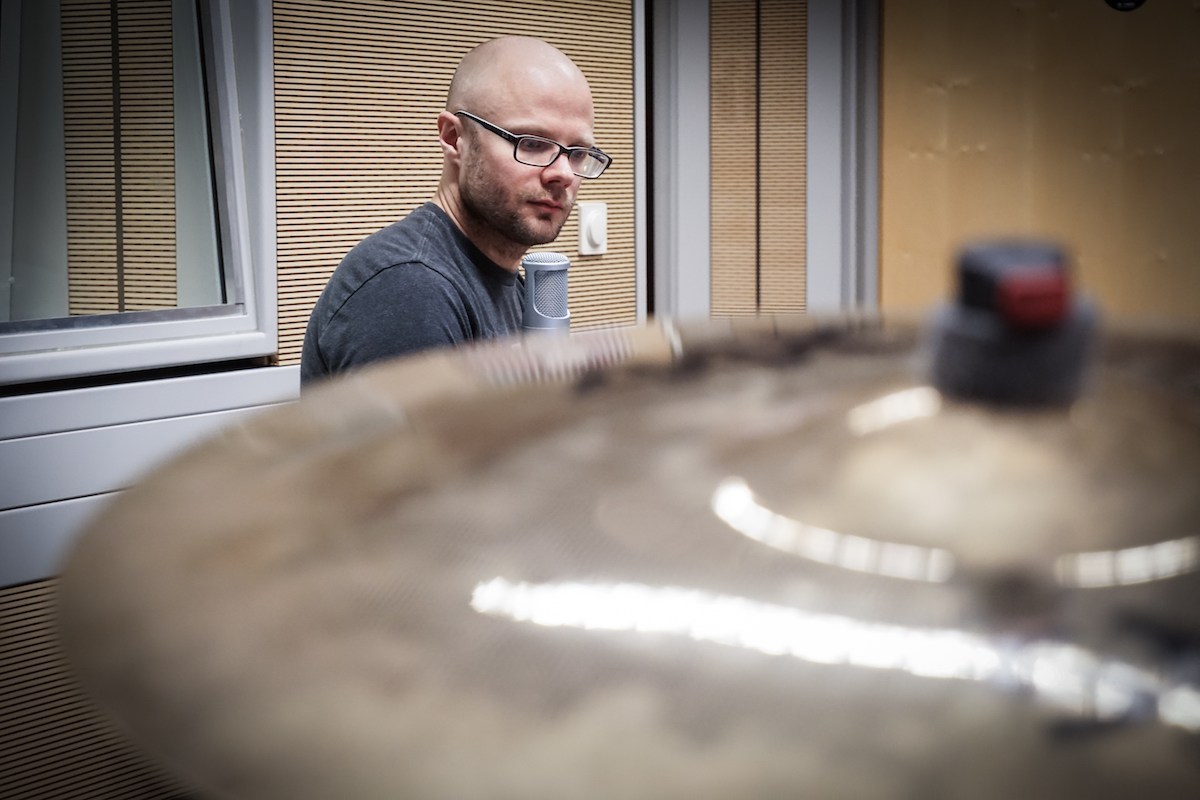 Matt and a cymbal